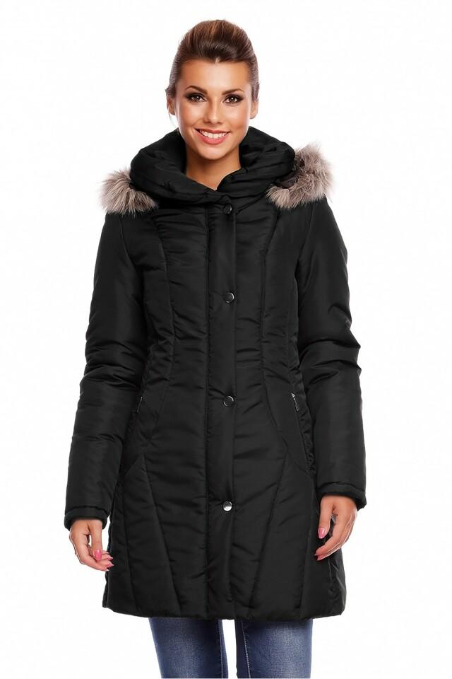Dámský prošívaný kabát model 63554 - Cabba - 48 - černá