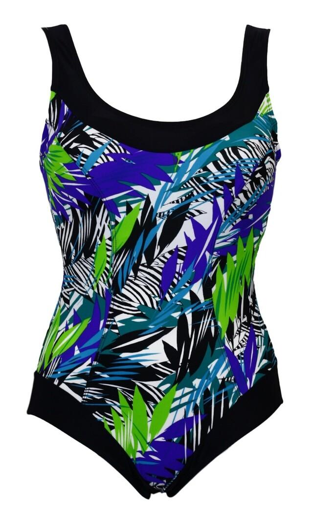 Dámské jednodílné plavky Mariss Selena - M - modrá-vzor