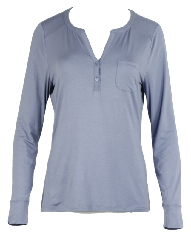 Dámské pyžamo-top QS5541E - Calvin Klein - M - jeans