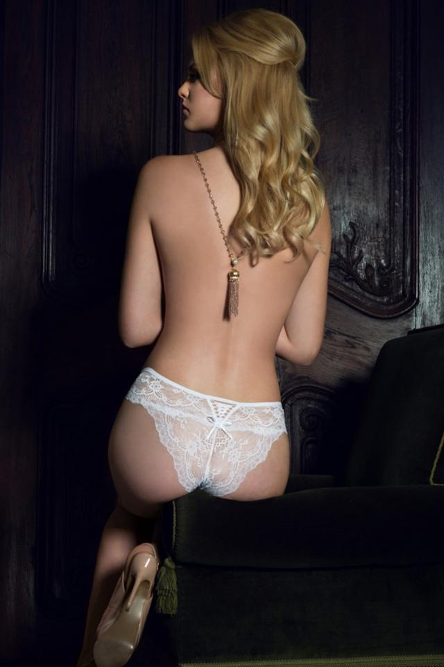 Dámské kalhotky Ofelia white - XL - bílá