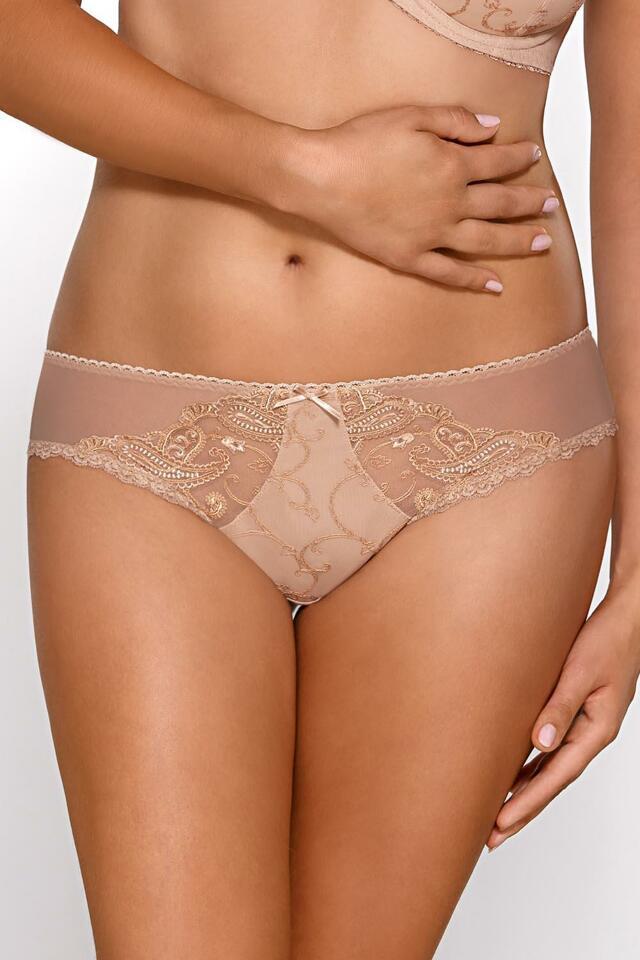 Kalhotky string Ava 1512/S - M - gold