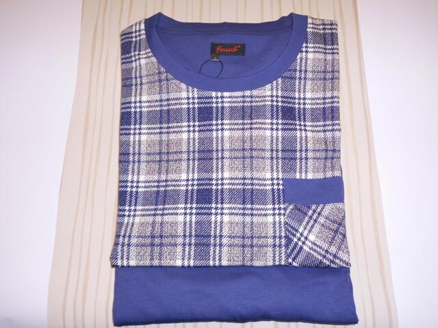 Pánské pyžamo Karono G DR/M - Favab - M - tmavě modrá kostka
