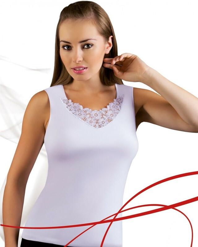 Dámská košilka Berta white - S - bílá