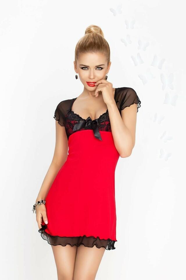 Dámská košilka Irina red-black - M - červeno-černá