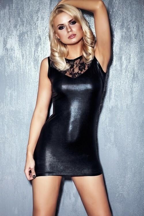 Erotické šaty Camparia - L - černá
