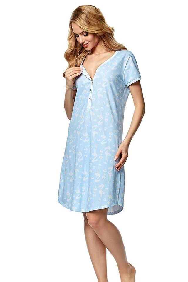 Kojící a těhotenská košile Alisa blue - M - světle modrá