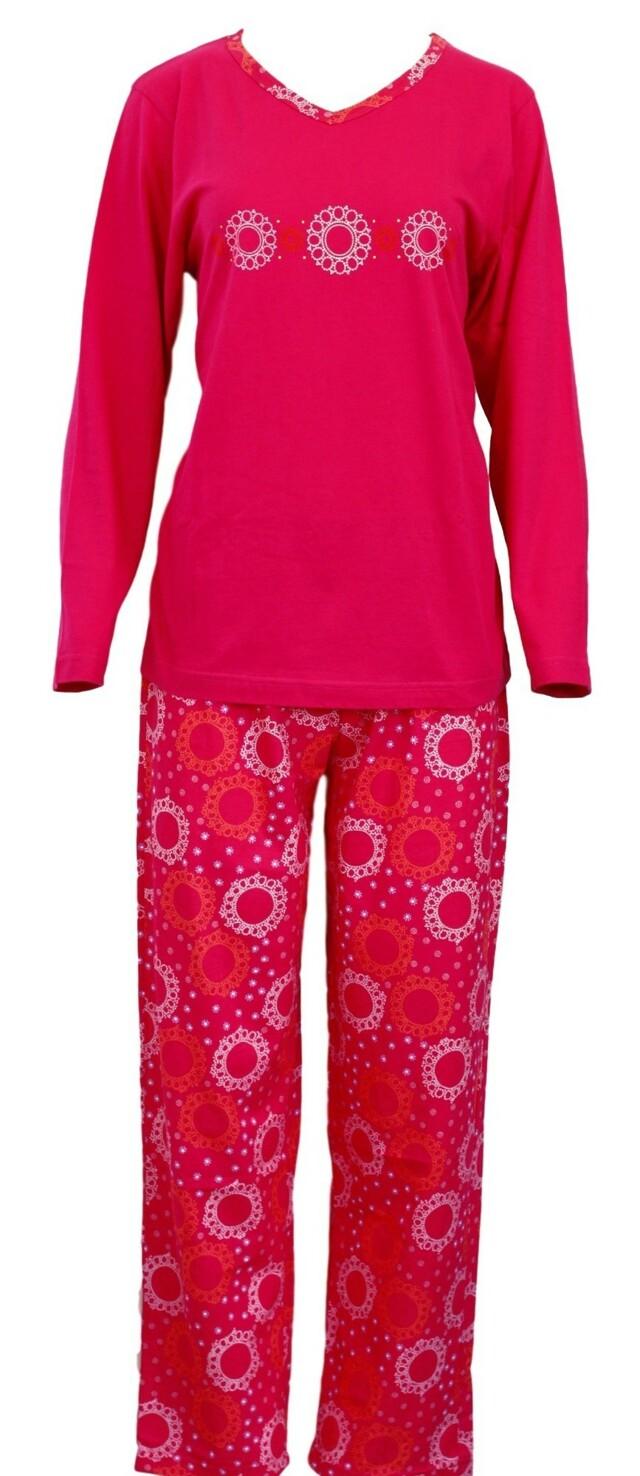 Dámské pyžamo 636-Luna - XL - tmavě růžová