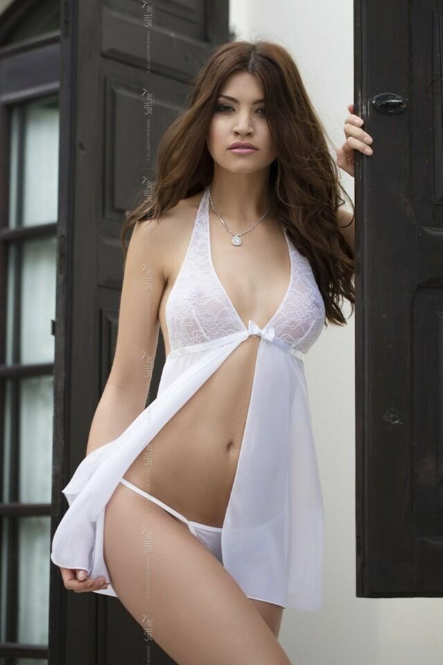 Dámská košilka Irina white - S/M - bílá