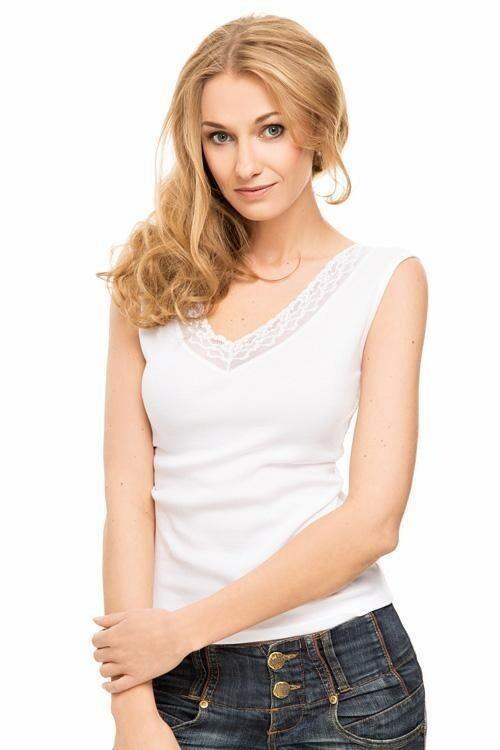Dámská halenka Violana Villa white - ramínka - XL - bílá