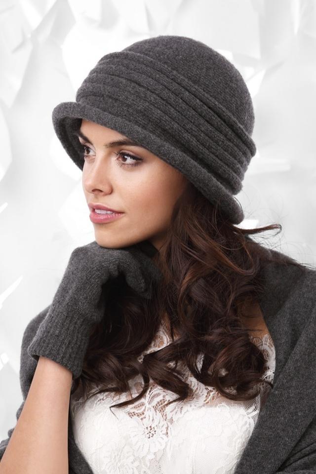 Dámský klobouk Salerno tmavě šedá - Kamea - uni - tmavě šedá