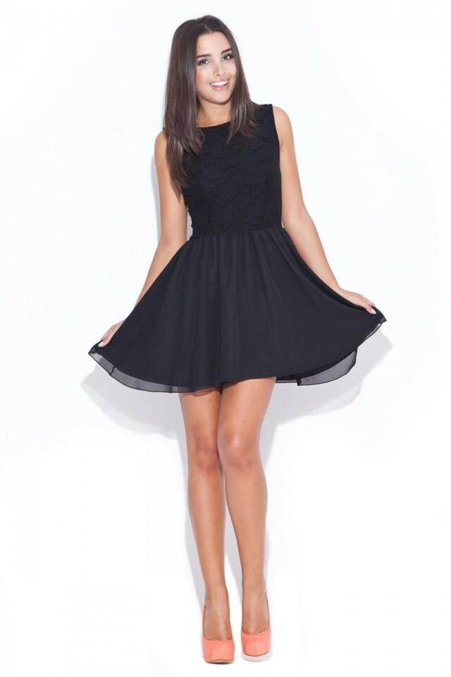 Dámské šaty K007 black - M - černá