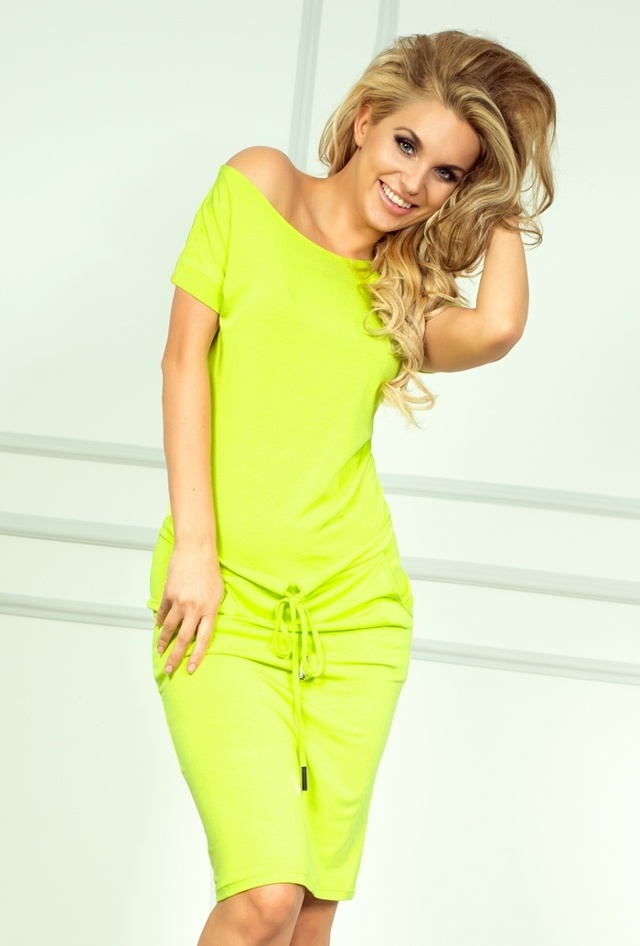 Neonově limetkové sportovní šaty 56-3