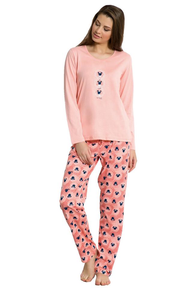 Dámské pyžamo Cristina lososové - S