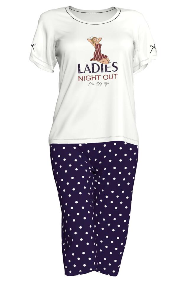 Dámské pyžamo 6114 - Vamp - L - červená