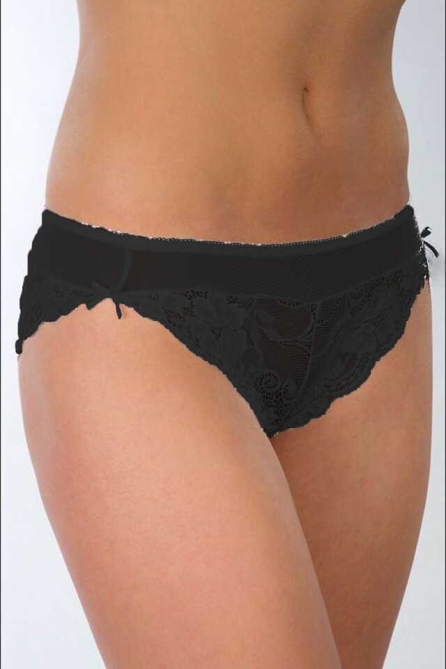 Dámské kalhotky 33 black - M - černá