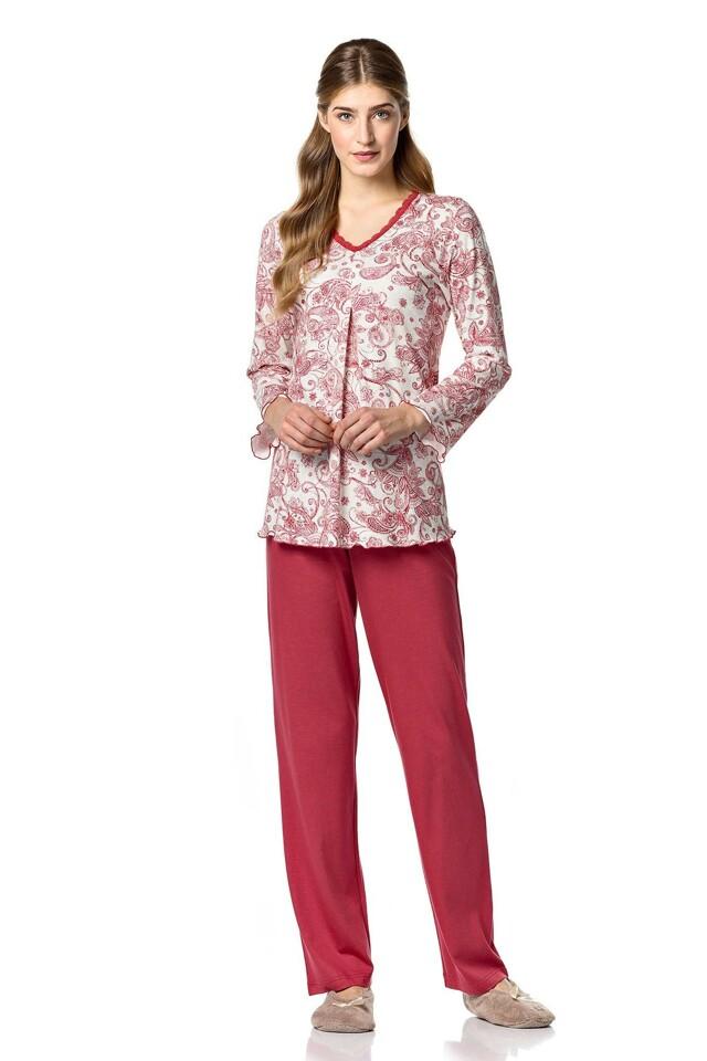 Dámské pyžamo 10-4701 - Vamp - M - vínová