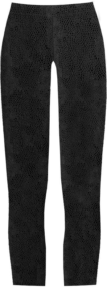 Černé lesklé legíny se zvířecím vzorem (325/2ART) - XXL (44) - černá
