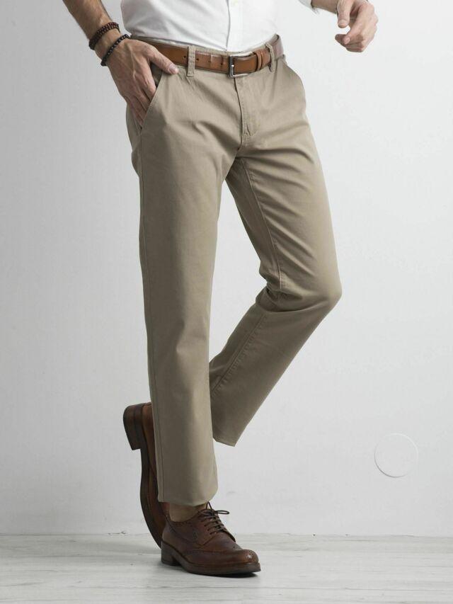 Pánské béžové chino kalhoty - 30