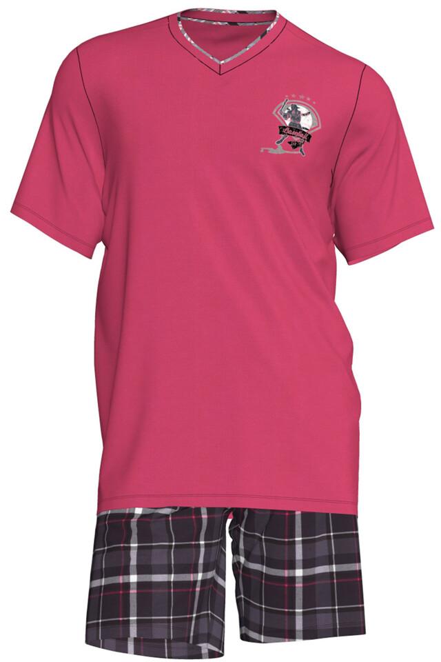 Pánské pyžamo Romeo 00-15-2831-308 - Vamp - M - růžová
