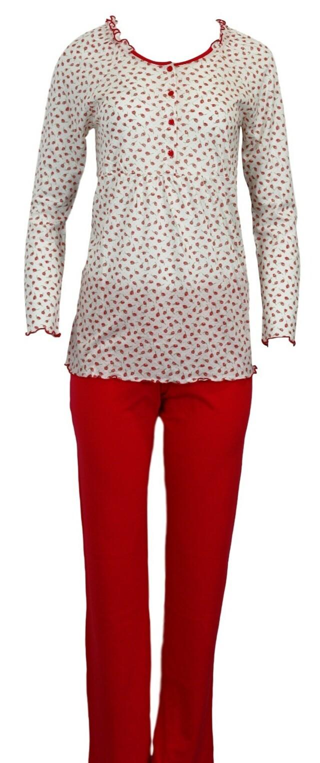 Dámské pyžamo 3537 - Vamp - 38 - červená