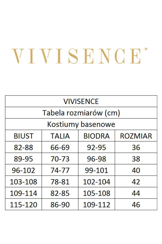 Jednodílné plavky Vivisence 3403 - - šedá