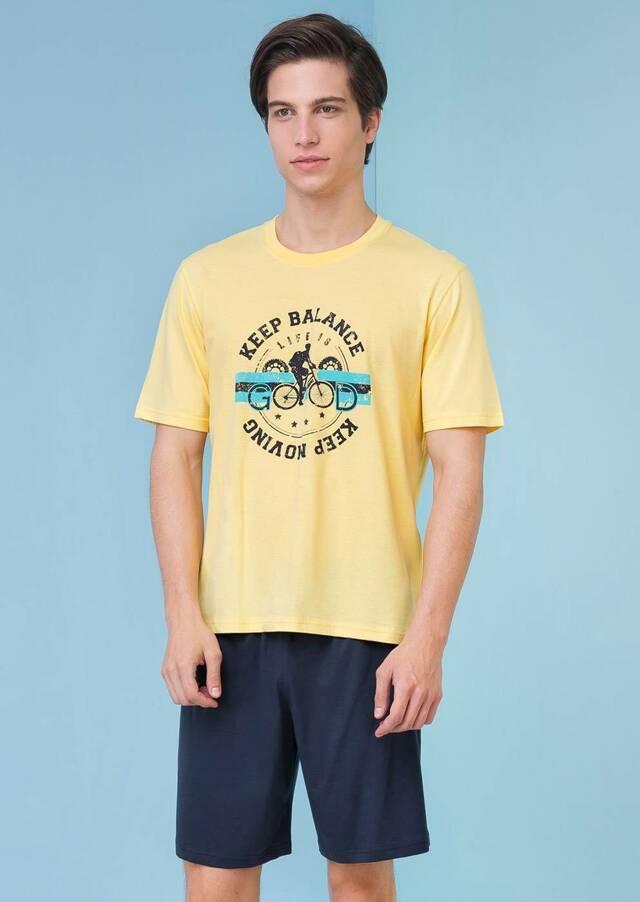 Pánské pyžamo 3205 - Vamp - M - žlutá