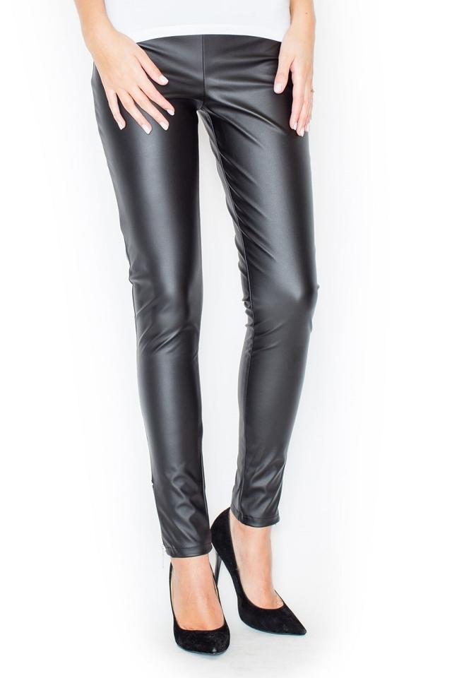 Dámské kalhoty K197 black - S - černá