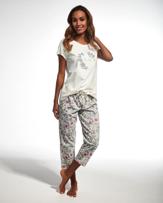Dámské pyžamo Cornette 670/147 Belle kr/r - S - okrová