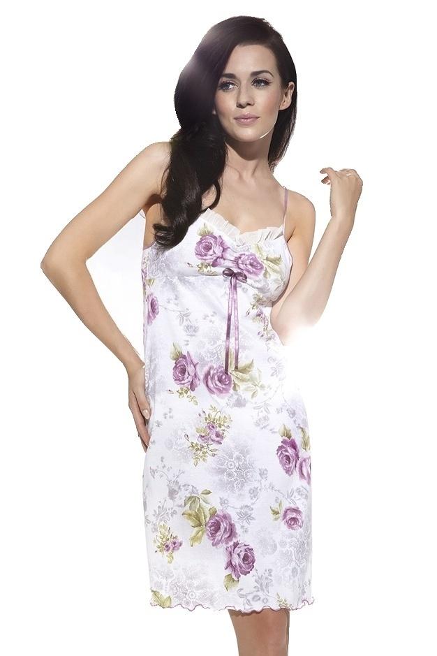 Luxusní noční košilka Mariana květy - L