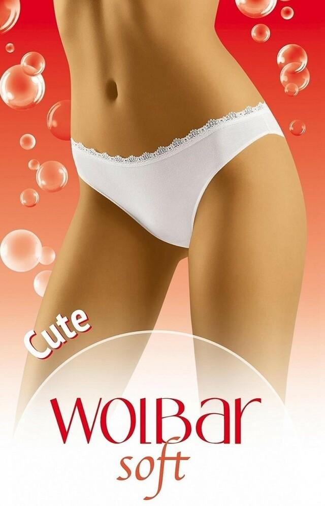 Dámské kalhotky Cute soft white - S - bílá