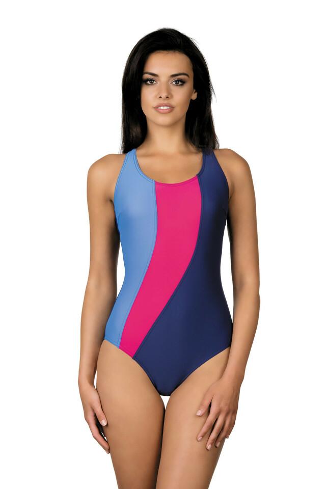 Dámské sportovní plavky Gita modročervené