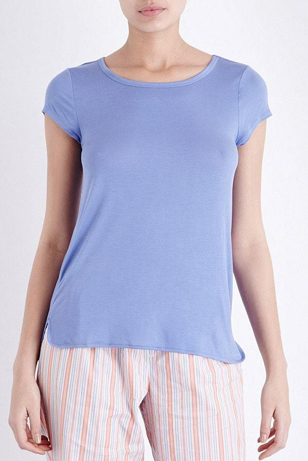 Dámské tričko QS5253E - Calvin Klein - L - modrá
