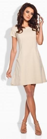 Dámské šaty L142 - Lemoniade - S - béžová
