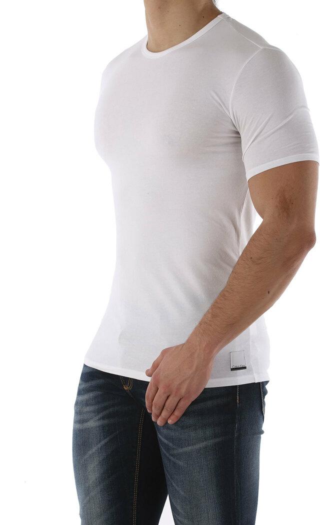 Pánské triko Crew Neck Slim Fit T-Shirt 2pack NU8697A - Calvin Klein - L - bílá