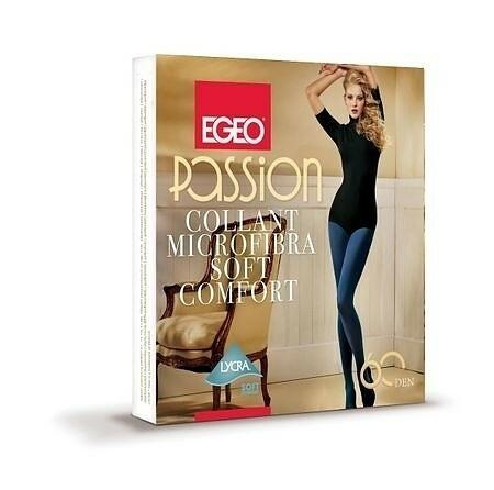 Punčocháče Egeo Passion Soft Comfort 60 den S-L - 2-S - mocca/odstín hnědé