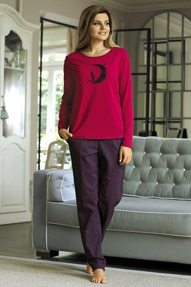 Dámské pyžamo 3071 red - L - červená