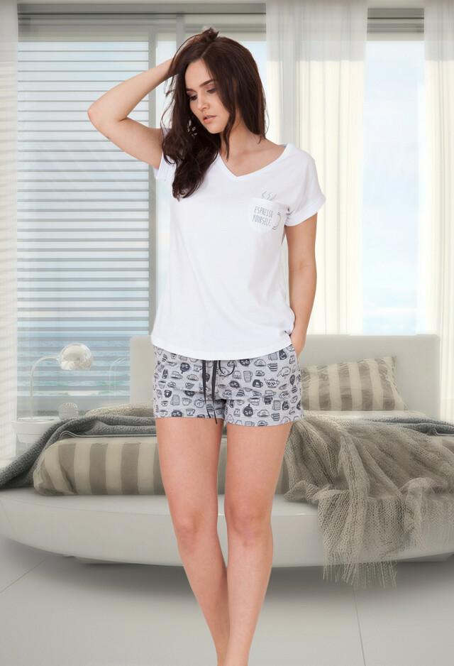 Dámské pyžamo M-Max Berta 618 kr/r S-XL - S - bílá