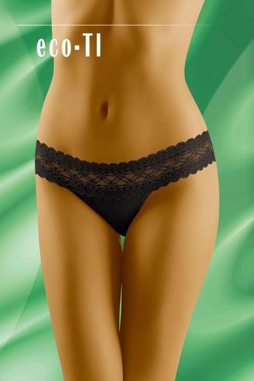 Dámské kalhotky eco-TI black - XL - černá