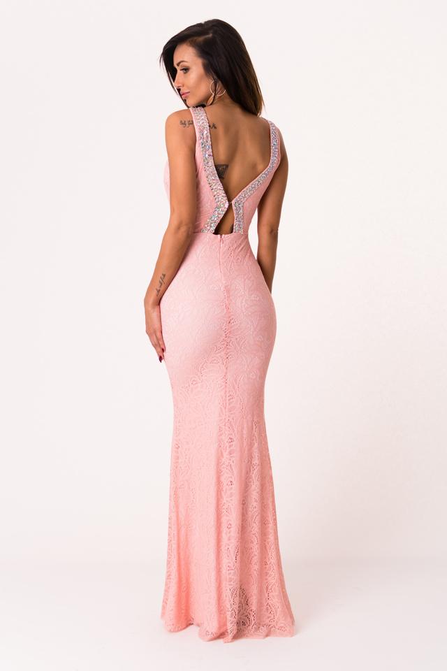 7d13cc9d75fa Světle růžové šaty SOKY SOKA 46013-2