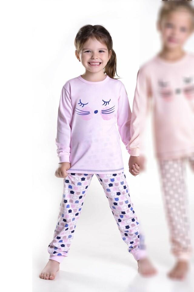 Dívčí pyžamo Ada růžové - 92