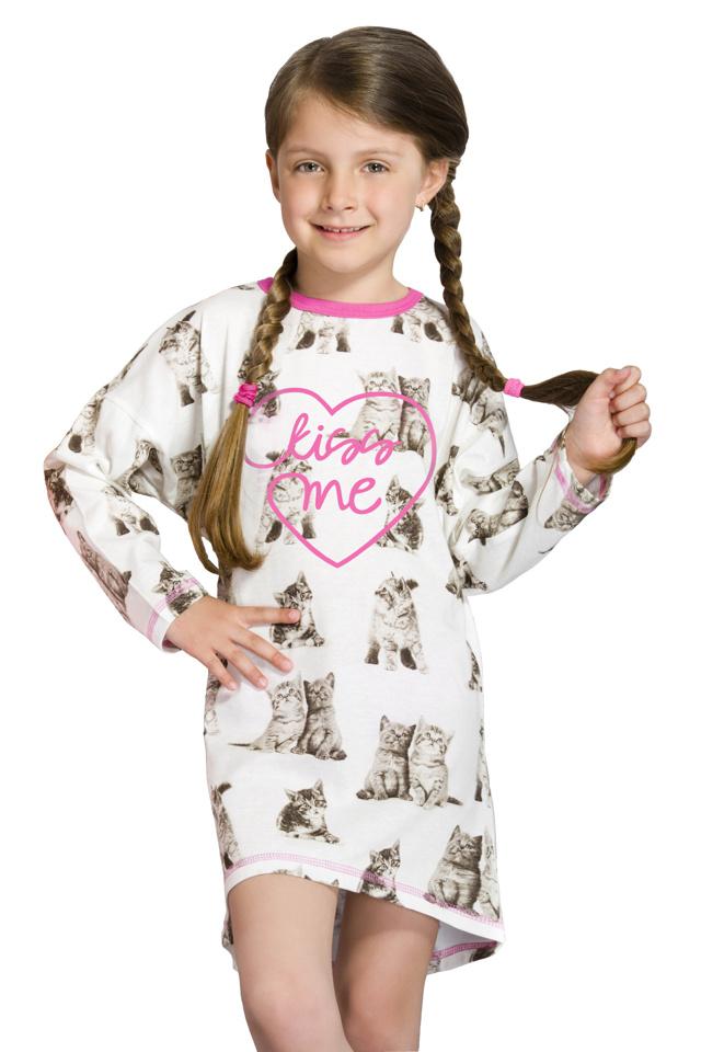 Dívčí noční košilka Angela s kočičkami - 104