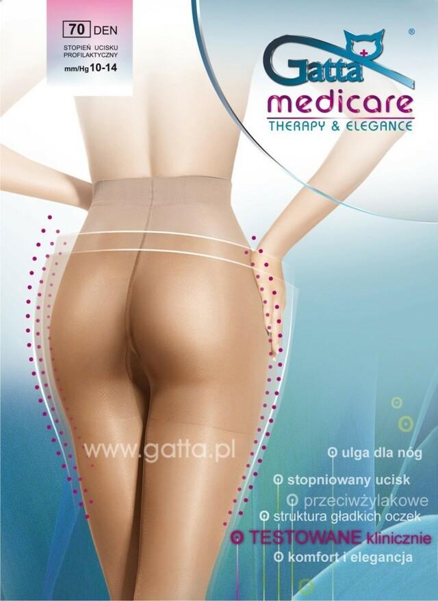 MEDICARE - Dámské kompresní punčochové kalhoty 70 DEN - GATTA - béžová - 2-S