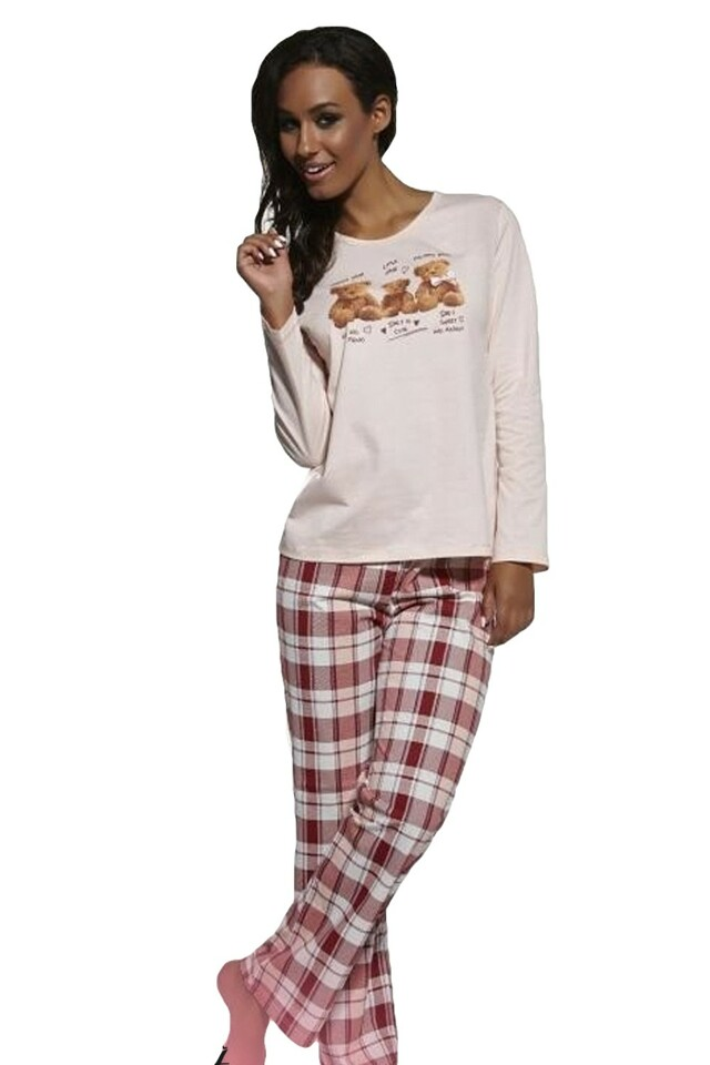 Dámské pyžamo 655/10 Bears - XL - růžová