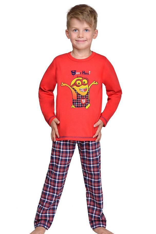 Chlapecké pyžamo Mimoň super hero červené - 116