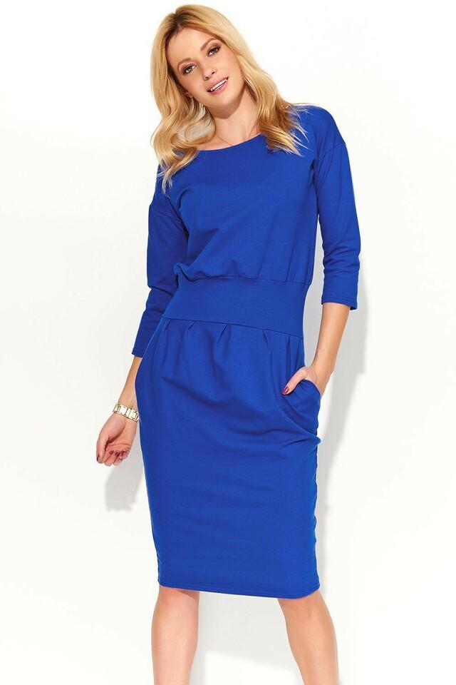 Dámské šaty Makadamia M376 - 42 - modrofialová