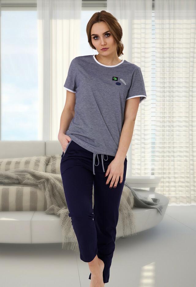 Dámské pyžamo M-Max Malwina 517 S-XL - S - modrá