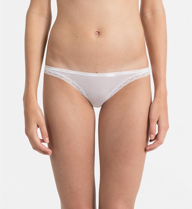 Tanga D3445E-100 bílá - Calvin Klein