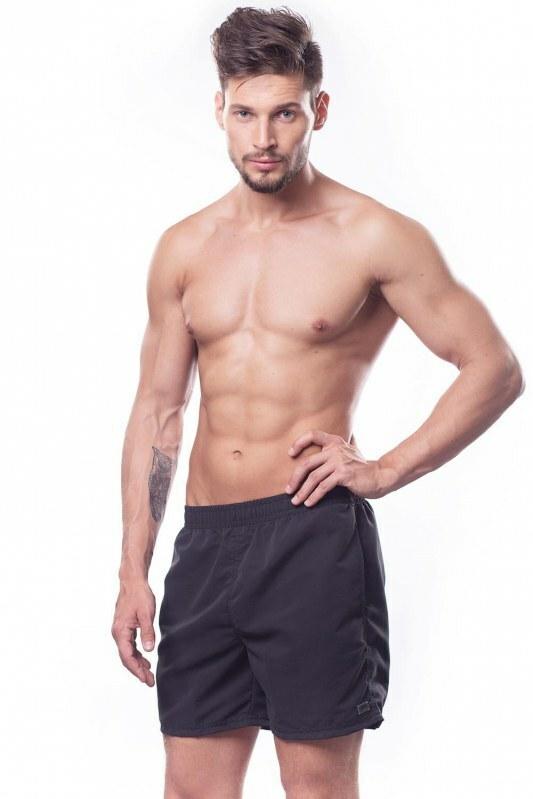 Pánské sportovní plavky šortky - Shepa - L - černá