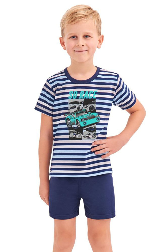 Chlapecké pyžamo Max modré proužky - 92