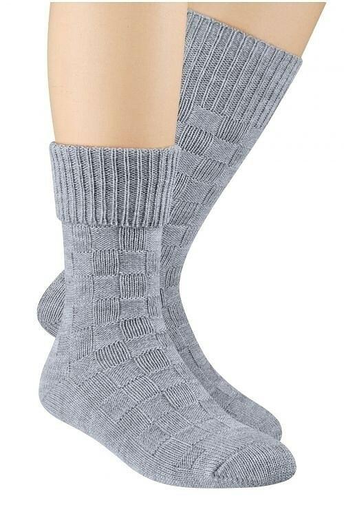 Vlněné ponožky Steven art.093 - 38-40 - Žlutá